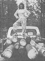 Dorothy is pleased with another load of logs