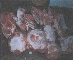 Figure 13.  Roasts, hams, chops, bacon, ribs & sausage trimmings.