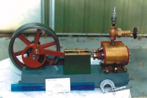 One of the small, high-quality steam engines made by the author's company, Tiny Power, Inc.