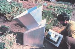 Solar cookers achieve 250-350 degrees during operation.