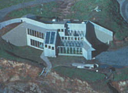 The Caspar Point house is unique in that it uses no fuel for space heating or cooling throughout the year.
