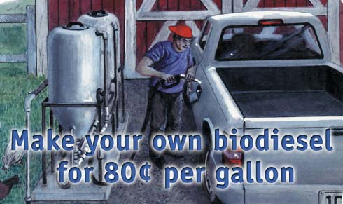 Make your own biodiesel for 80¢ per gallon