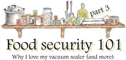 Food security 101, part 3: Why I love my vacuum sealer (and more)