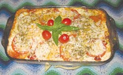 A heart healthy diet doesn't have to be drab and boring. It can include meals like this tasty and filling garden mushroom and vegetable lasagna.
