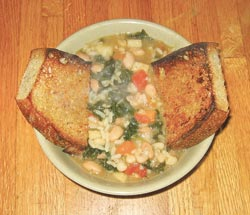 This classic Tuscan bean stew is another versatile recipe that can made with or without meat and with a wide variety of root vegetables. This stew, served over slices of garlic bread with a side of basic rice will make any cold winter's day feel warmer. Like most stews, it reheats well.