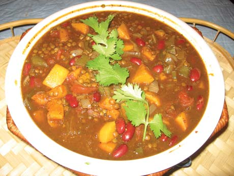Tex-Mex chili with lentils