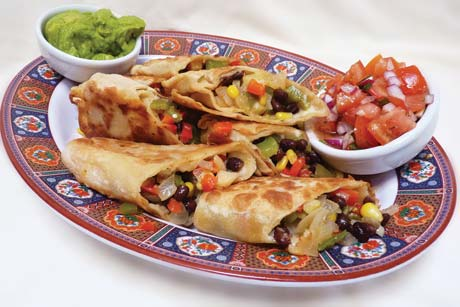 Vegetable chimichangas