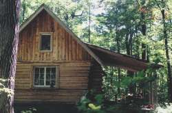 A porch is a great finishing touch to any log home.