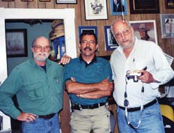 Massad Ayoob, center, was an important gun rights activist and writer long before he began writing articles for BHM 15 years ago. John Silveira, right, authored our prophetic series, The Coming American Dictatorship.