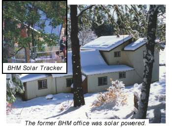 The former Backwoods Home Magazine office was solar powered.