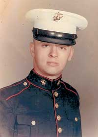 U.S. Marine Corps Sgt. Walter James (Jim) Duffy, Jr, served two tours of duty in Vietnam in the early 60s. He's shown here at age 21 after graduating boot camp.