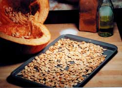 Pumpkin seeds are bursting with pep, and in China are a symbol of fruitfulness.