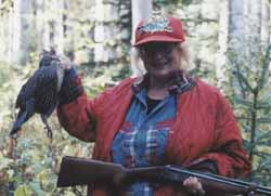 Author with a grouse