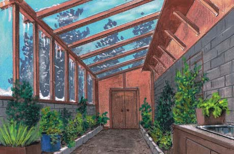 Greenhouse drawing by Don Childers