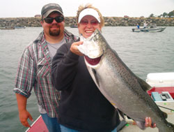 Dave and Sabrina Anderson with king salmon