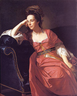 All but forgotten by history, Margaret Kemble Gage may be a genuine American heroine. But there are neither statues, historical sites, nor landmarks to honor her - not even a postage stamp. There is only Gage Road, named for her, in Brunswick, New Jersey, her hometown. This 1771 portrait, by the American artist John Singleton Copley, is the only likeness we have of her.