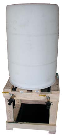 Many different sizes and shapes of chemical tanks are available to make bio-diesel. (Photo courtesy of Utah Bio-Diesel Supply)