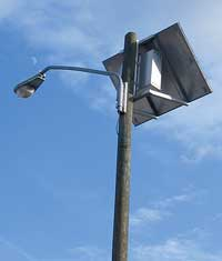 Figure 2. Rear view of a pole-mounted solar light