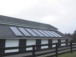 Photo 6: Completed solar array on south facing barn roof