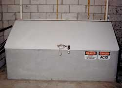 Air-tight insulated battery box with PVC air vents to the outside