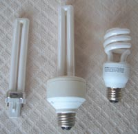 Replacing all incandescent light bulbs with compact fluorescent lamps is mandatory for off-grid systems. These lamps are now available in many different styles.
