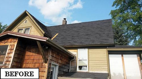 Our roof had two layers of shingles, heavily overlapped in the valleys and failing to the point where we could not get a homeowner's insurance policy.