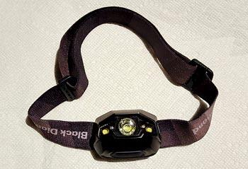 New rechargeable 130-lumen Black Diamond LED headlamp