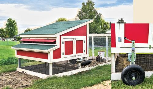 Tractor Wheels Chicken Co Op : Gardening with a chicken tractor backwoods home magazine