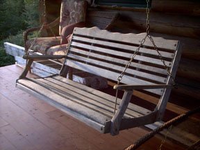 My porch swing is a little worn.