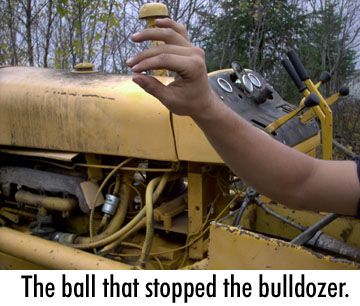 The ball that stopped the bulldozer.