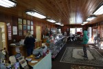 This is the interior of Sweetbriar. It has cases with the candy and there are also gifts. The fudge is made by the owners.