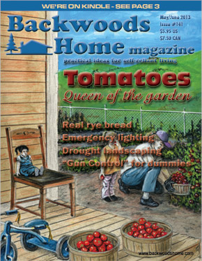 Current issue cover of Backwoods Home Magazine
