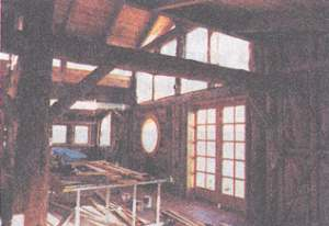 Interior, before the fire