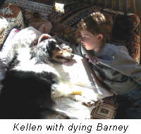 Kellen with dying Barney