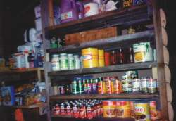 A well-stocked pantry.