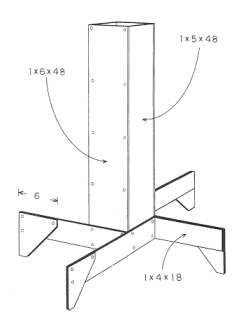 Figure 1. The vertical wooden duct