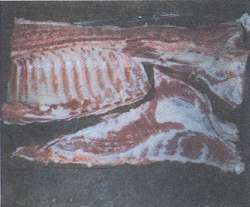 Figure 11. The bacon separated from the ribs.