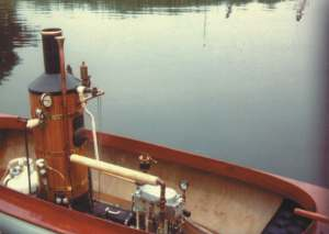 This steamboat, with its typical power plant, was used in the movie Maverick