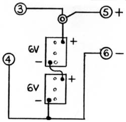 Batteries are wired in series to increase voltage.