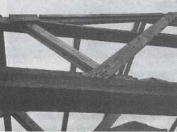 Figure 6. The owner tried to strengthen this truss joint with more nails. He succeeded only in damaging it further.