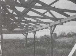 Figure 7. Modern trusses are too spindly to look good if left exposed.
