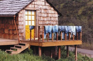 'Blue Monday' washday. Before you start cutting up those old jeans to turn into a quilt, wash them to soften them up.