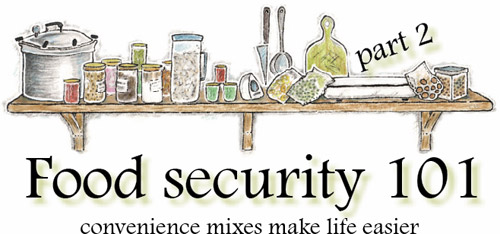 Food security 101: part 2 - Convenience mixes make life easier