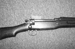 Dog-leg bolt handle, rabbit-ear rear-sight protector made the 1917 Enfield .30-06 a butt-ugly critter, but it served America nobly in WWI alongside the Springfield. The Enfield was the rifle issued to hero Alvin York.