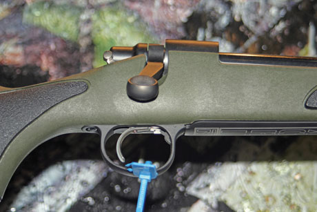 Note the bowed out shape toward the front of the trigger guard on America's most popular bolt action hunting rifle, the Remington Model 700. It makes the gun work better with gloves on in cold weather.