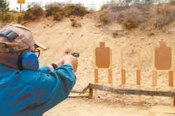 Russ Johnson lives in the town where the author is a cop. Here he drills with his personal defense handgun, a Taurus Ultra-Lite .38 snub-nose...
