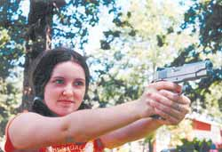 Do your children know what to do if there is a criminal intrusion into the home? Samantha Kemp, 15, does. The current National Junior Handgun Champion, she demonstrates her winning style with her Morris Custom Colt 9mm.