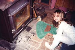 In winter Annie would heat a brick on the stove, wrap it in a towel, and put it in the foot of her sleeping bag.