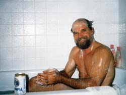 I was the first beneficiary of the water system, after my friend, Doc Lewandowski, installed tile around the tub.