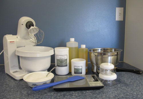 The ingredients and equipment needed to make your own body butters and scrubs are basic.
